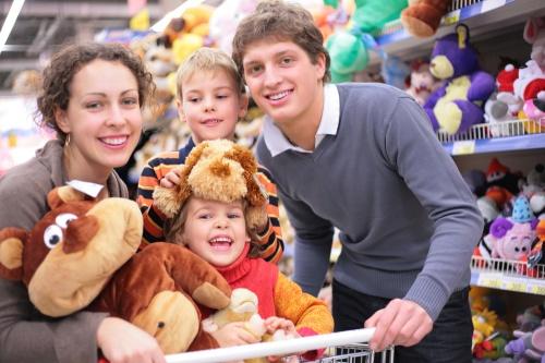 shopping cu copii