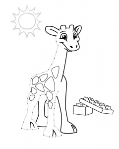planse de colorat - girafa