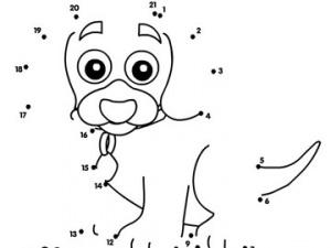 desene de colorat - puiut de caine