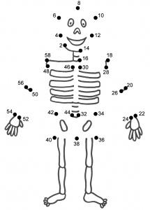 planse de colorat - schelet