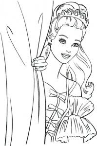 desene de colorat cu printesa barbie 4