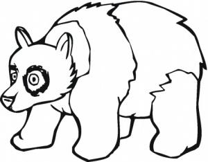 pdesene de colorat - panda 3