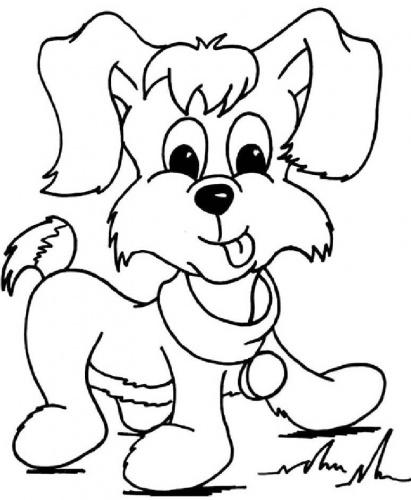 desene de colorat - catel de colorat 1