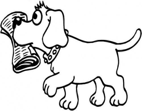 desene de colorat - catel de colorat 4