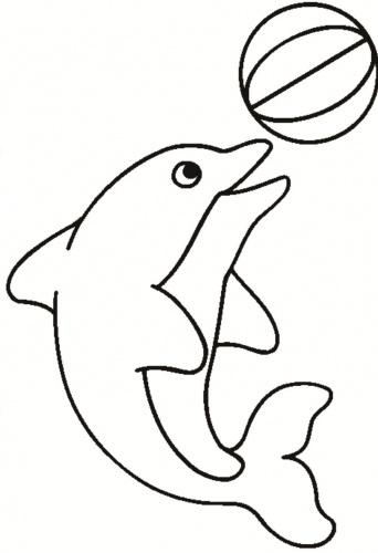 desene de colorat - delfin 3