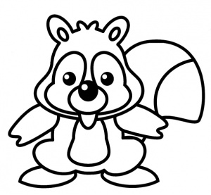 desene de colorat cu veverite 4