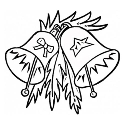 desene de colorat - clopotei de craciun 4