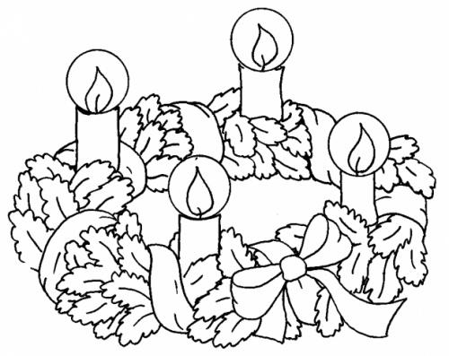 desene de colorat - coronita de craciun 2