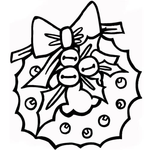 desene de colorat - coronita de craciun 1