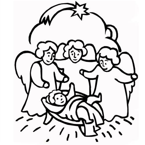 desene de colorat - nasterea lui iisus 1