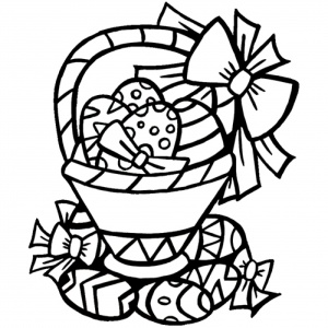 desene de colorat de paste 4