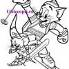 Desene de colorat cu Tom si Jerry