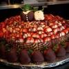 Desert de Paste: Tarta cu ciocolata si capsuni