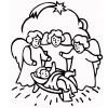 Nasterea lui Iisus - desen de colorat pentru copii