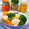Piure de conopida si broccoli cu sos de branza