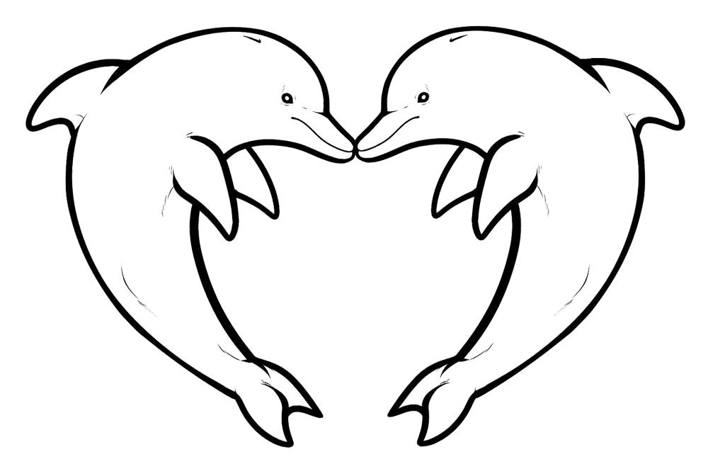 Desene De Colorat Cu Delfini