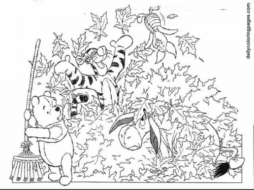 difficult fall coloring pages - photo #15