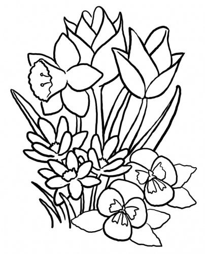 plansa-colorat-copii-buchet-de-flori
