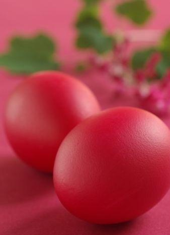 oua rosii de paste