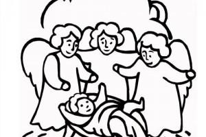 Desene de colorat | Nasterea lui Iisus