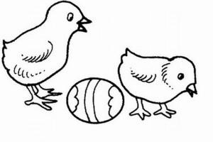 Puisorii de Paste. Desen de colorat pentru copii